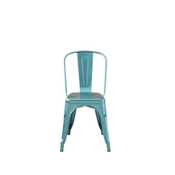 Acme Furniture Jakia Glossy Blue Side Chair 96782