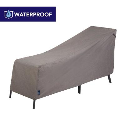 Garrison Waterproof Outdoor Patio Chaise Lounge Cover, 65 in. W x 28 in. D x 29 in. H, Heather Gray