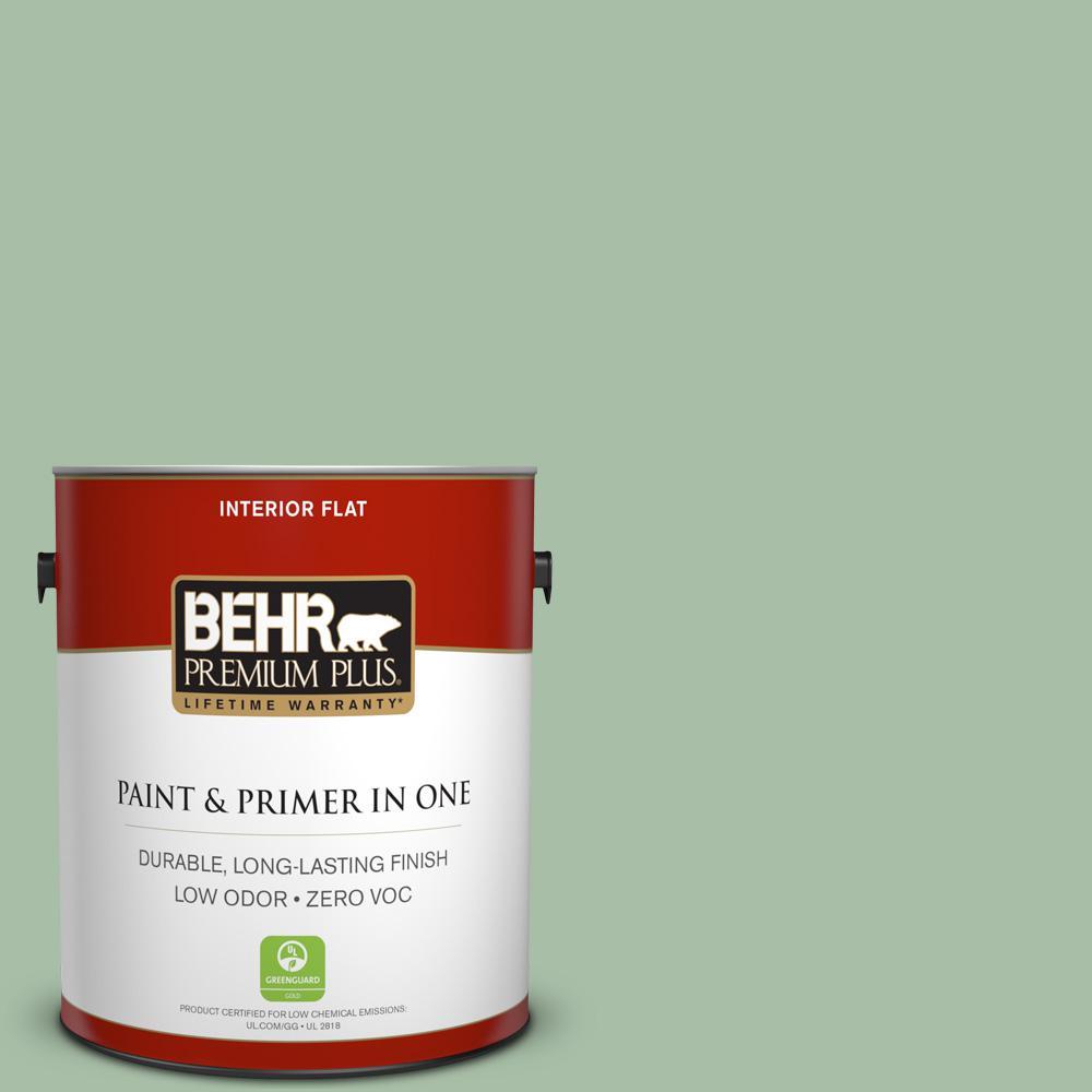 BEHR Premium Plus 1-gal. #S400-4 Azalea Leaf Flat Interior Paint