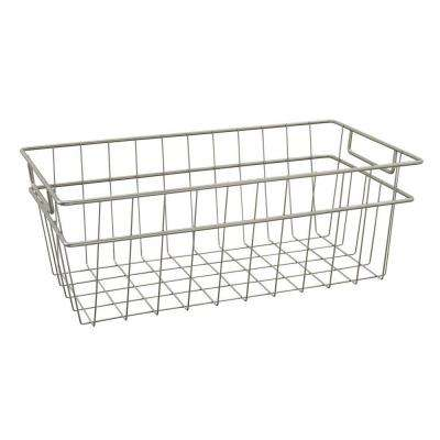 8.5 in. x 7.5 in. Large Wire Basket in Nickel