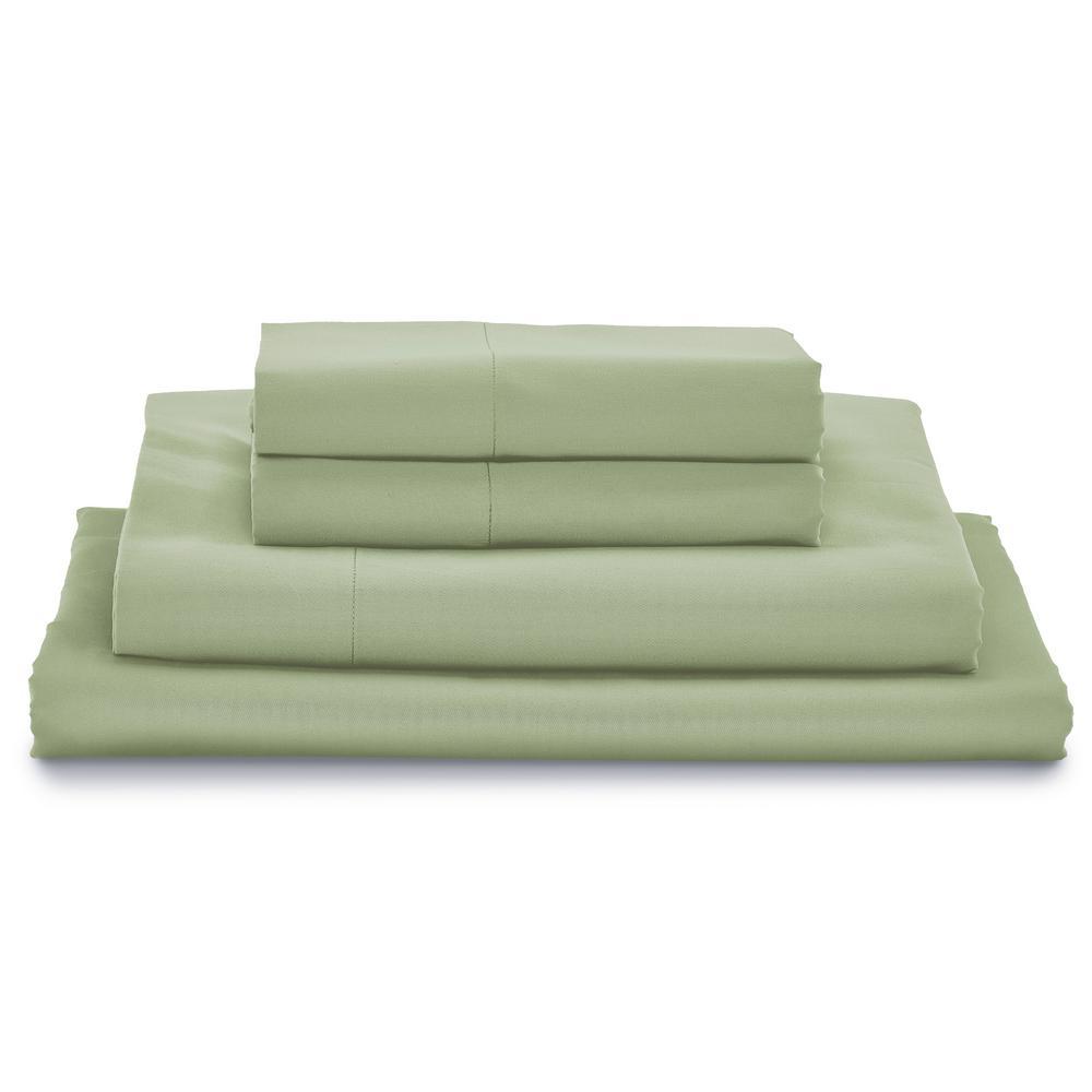 Giza Sage King Bed Sheet Set