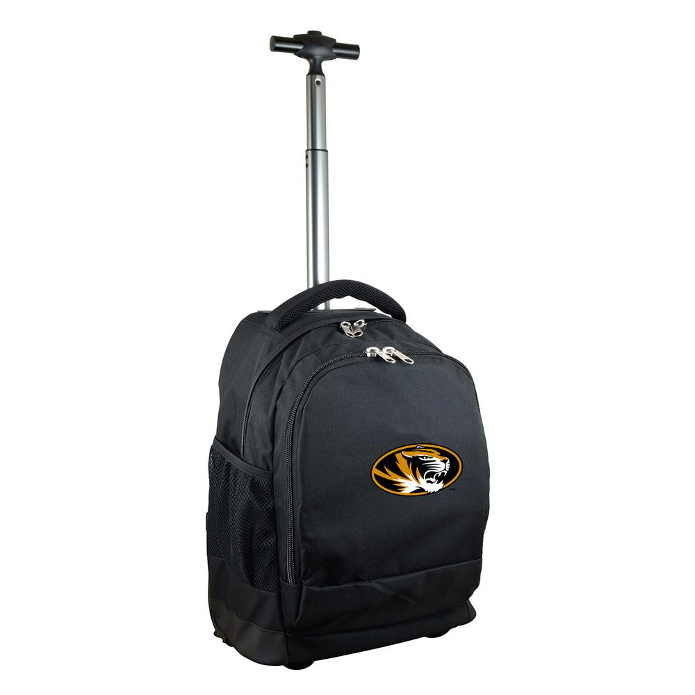 NCAA Missouri 19 in. Black Wheeled Premium Backpack