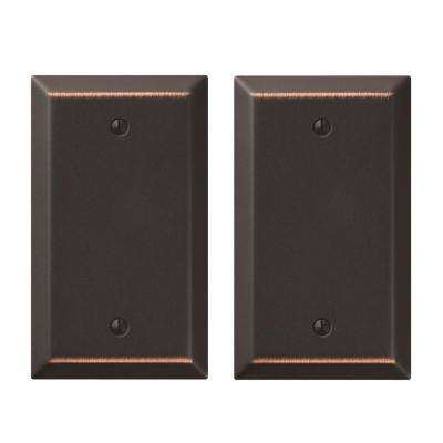 Century 1 Blank Wall Plate in Aged Bronze (2-Pack)