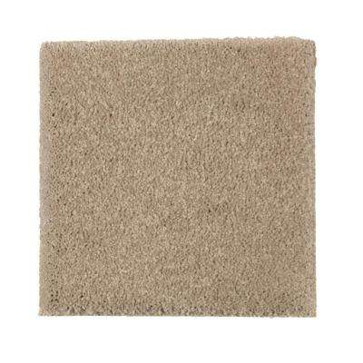 Carpet Sample - Gazelle II - Color Tumbleweed Tan Texture 8 in. x 8 in.