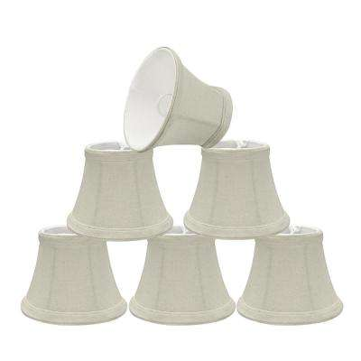 5 in. x 4 in. Off White Bell Lamp Shade (6-Pack)