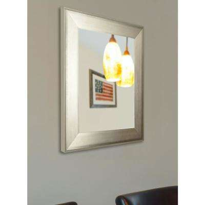 22.5 in. x 26.5 in. Brushed Silver Non Beveled Vanity Wall Mirror