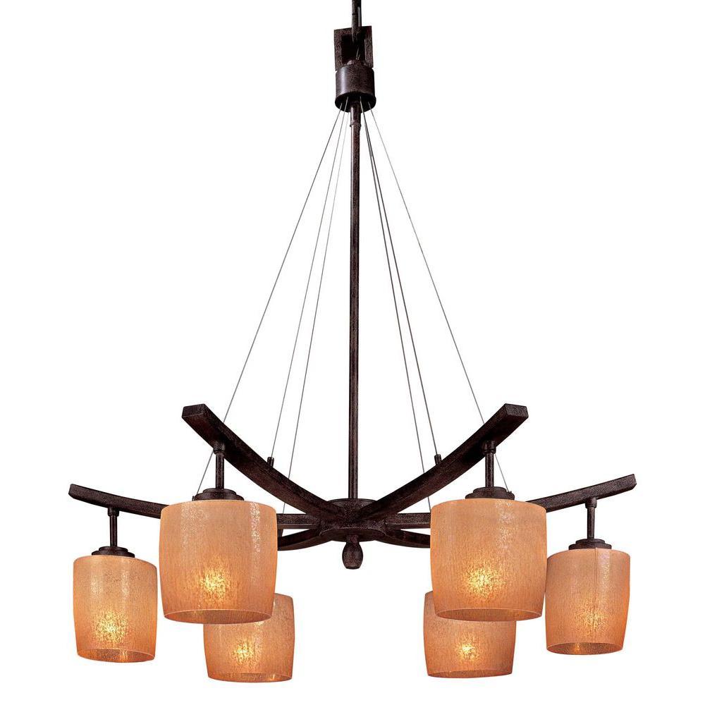 Minka lavery raiden 6 light iron oxide downlight chandelier 1186 357 minka lavery raiden 6 light iron oxide downlight chandelier mozeypictures Gallery