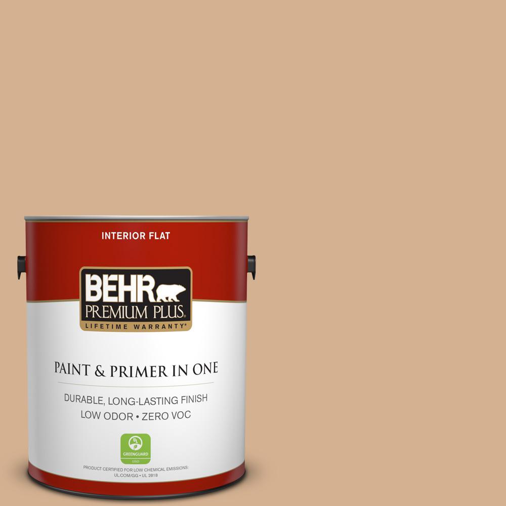BEHR Premium Plus 1-Gal. Home Decorators Collection Creme De Caramel Flat Interior Paint