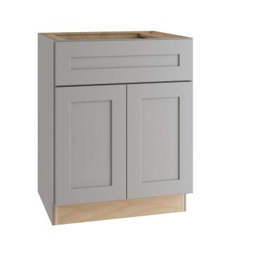 Tremont Assembled 27 x 34.5 x 24 in. Plywood Shaker Base Kitchen Cabinet Soft Close Doors/Drawers in Painted Pearl Gray