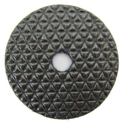 4 in. Black Buff Dry Diamond Polishing Pad for Stone