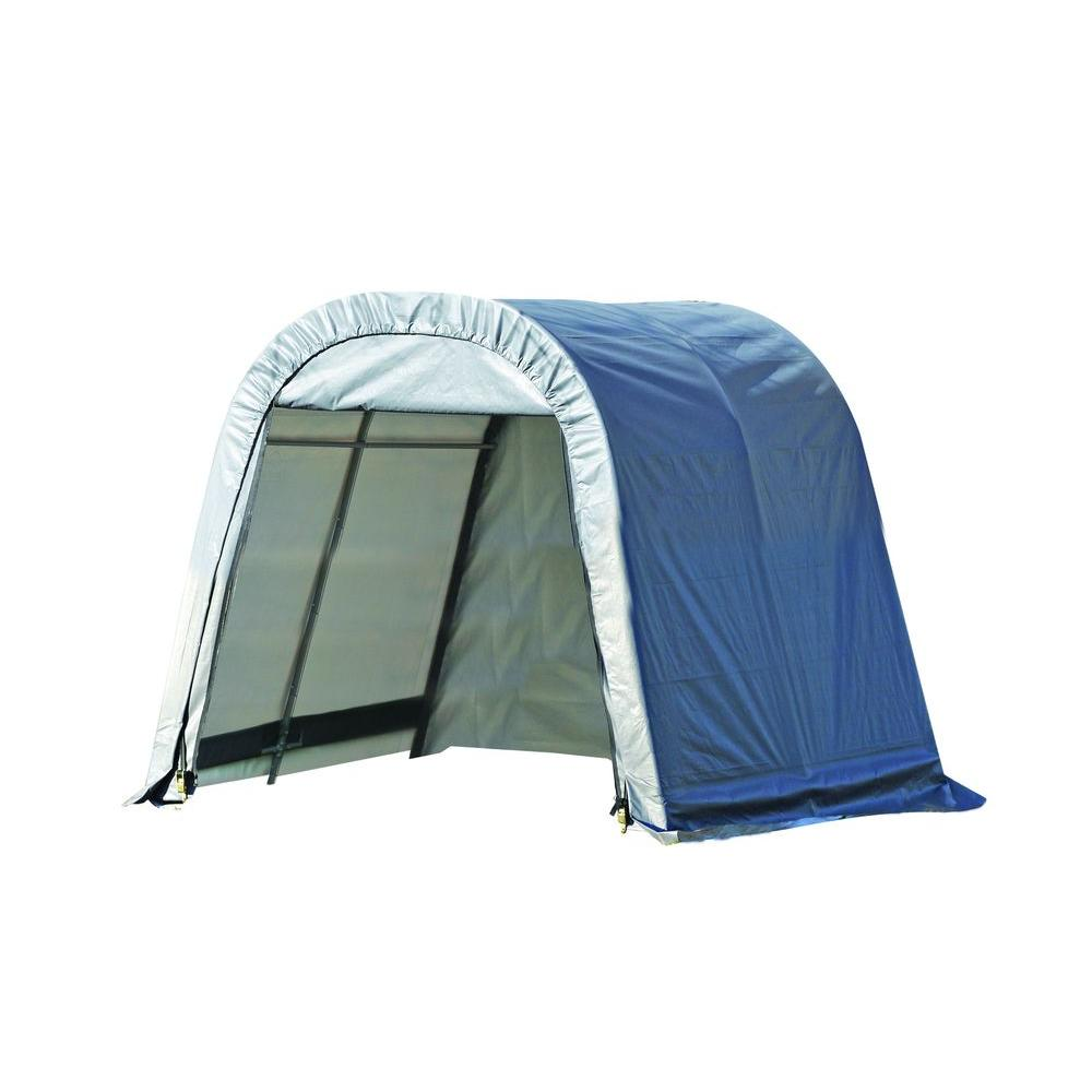 ShelterLogic 10 ft. x 24 ft. x 8 ft. Grey Cover Round Style Shelter - DISCONTINUED