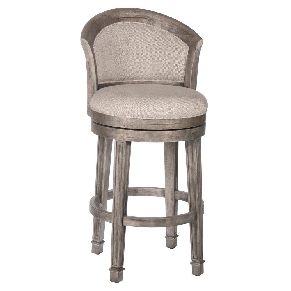 Hillsdale Furniture Monae 30 In Distressed Dark Gray Swivel Bar Stool 4707 830 The Home Depot