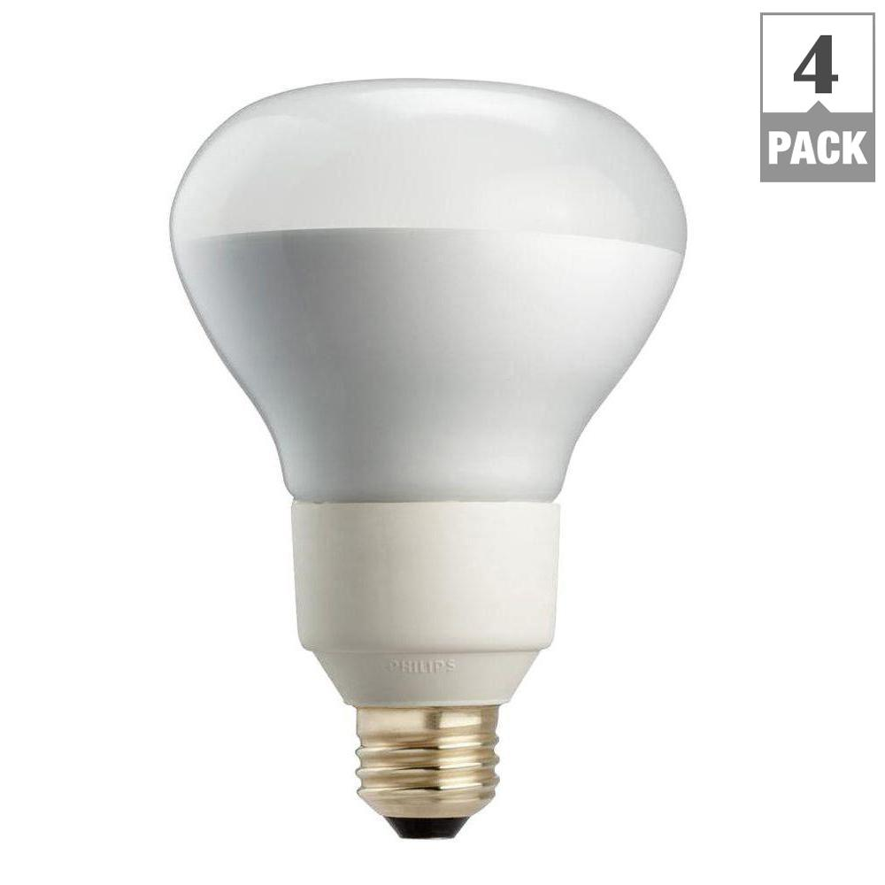 Philips 85 watt equivalent r40 dimmable cfl flood light bulb soft philips 85 watt equivalent r40 dimmable cfl flood light bulb soft white 4 workwithnaturefo