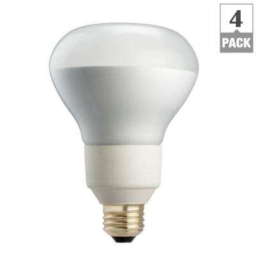 R40 flood and spot cfl bulbs light bulbs the home depot 85 watt equivalent r40 dimmable cfl flood light bulb soft white 4 pack workwithnaturefo