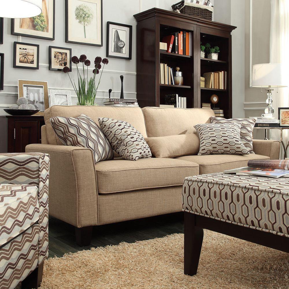 HomeSullivan Grove Tan Linen Sofa
