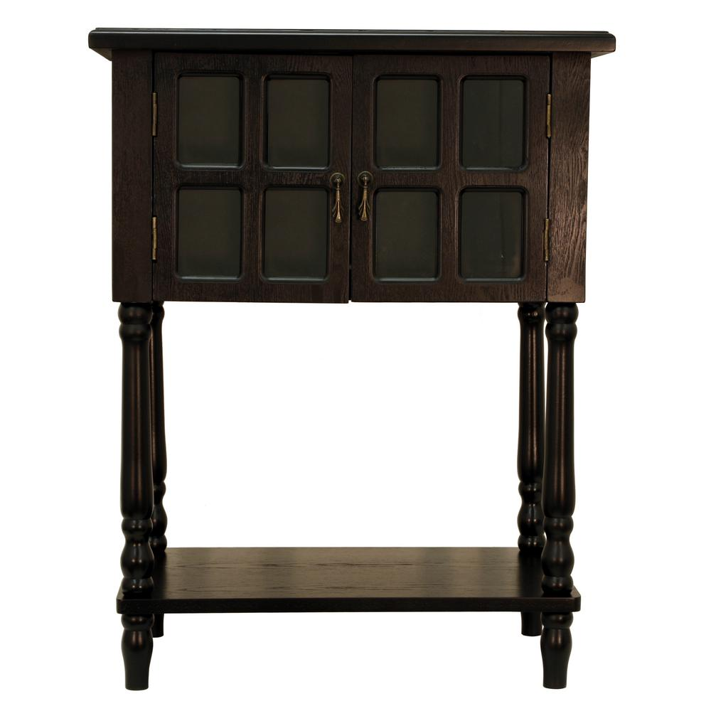 Nora Satin Black Door Accent Table