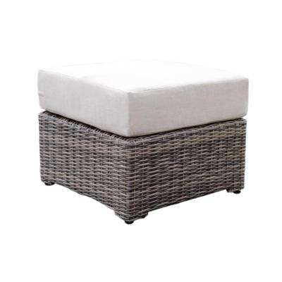 Cherry Hill Patio Ottoman with Cast Ash Cushion