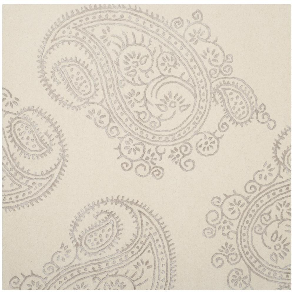 Bella Ivory/Beige 5 ft. x 5 ft. Square Area Rug