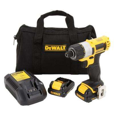 12-Volt MAX Lithium-Ion Cordless 1/4 in. Screwdriver Kit with (2) Batteries 1.5Ah, Charger and Contractor Bag