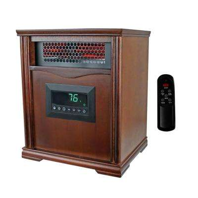 LifePro Dark Oak 1500 Watt Infrared Electric Portable Space Heater
