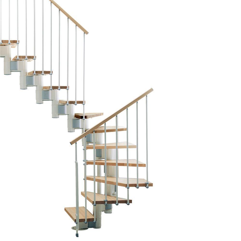 """Kompact 29 in. White Modular Staircase """"U"""" Kit"""