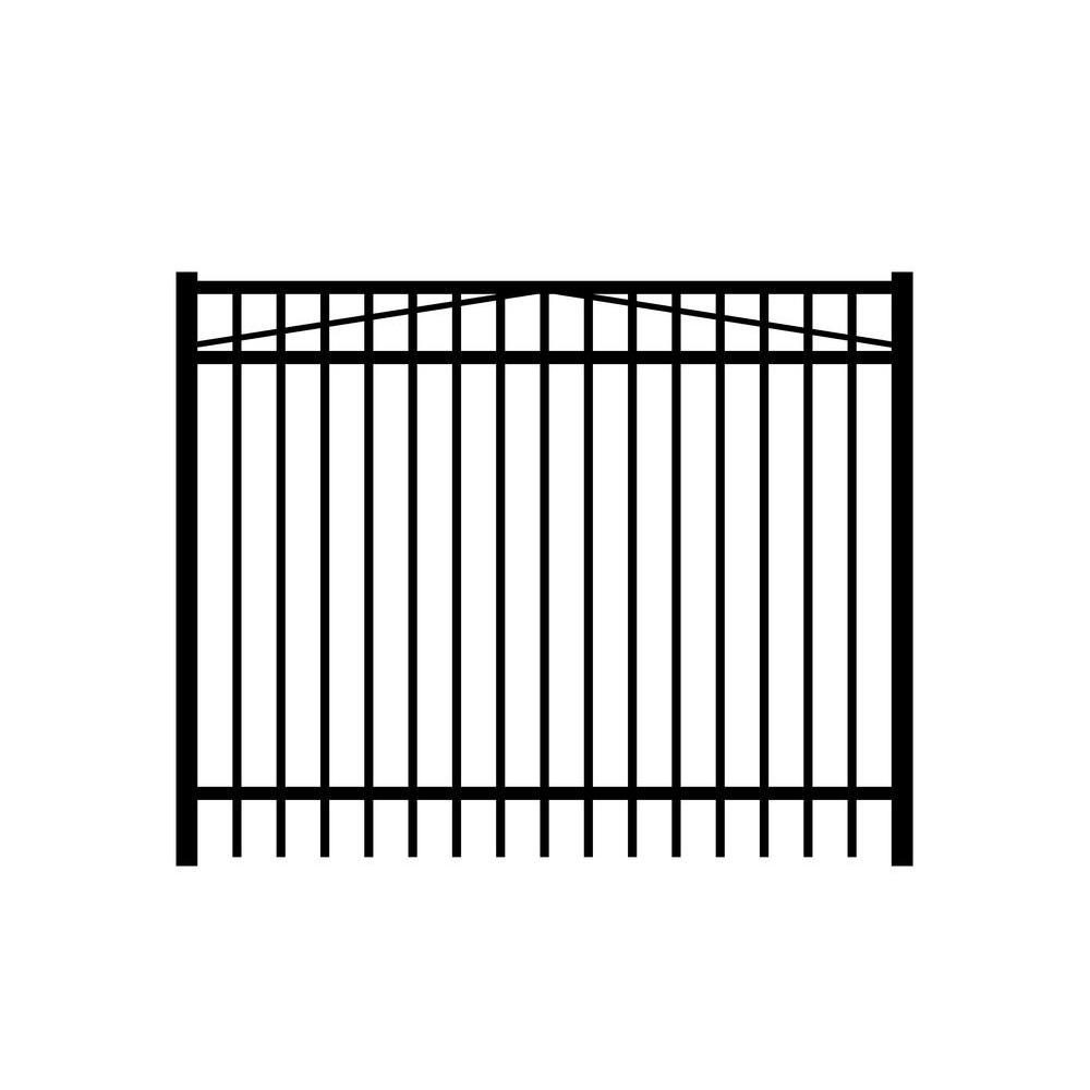 Jefferson 6 ft. W x 3 ft. H Black Aluminum 3-Rail Fence Gate