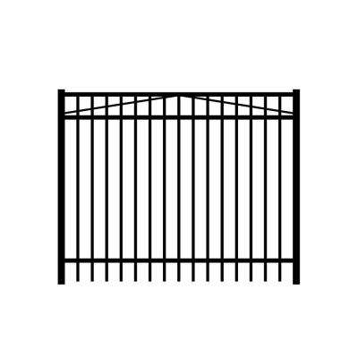 Jefferson 6 ft. W x 5 ft. H Black Aluminum 3-Rail Fence Gate
