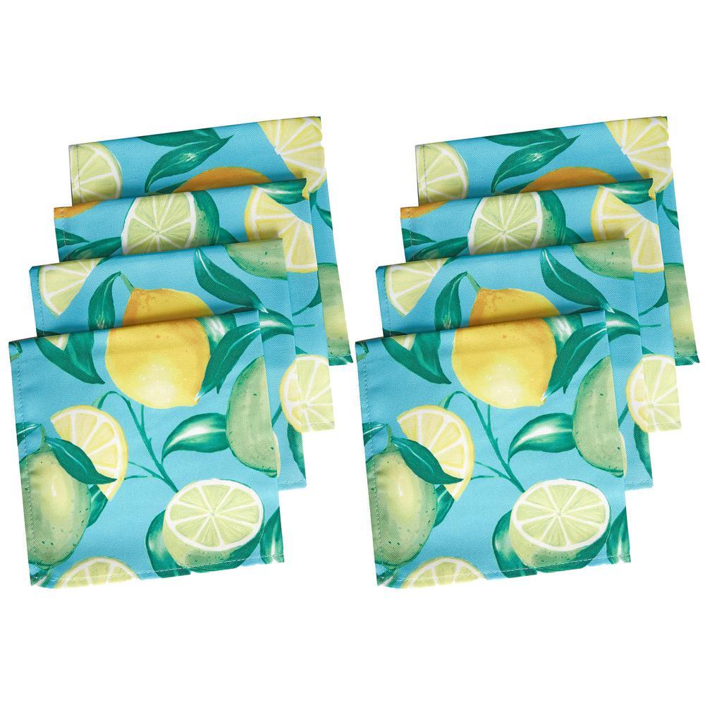 17 in. W x 17 in. L Lemon Grove Stain Resistant Indoor Outdoor Napkins (Set of 8)