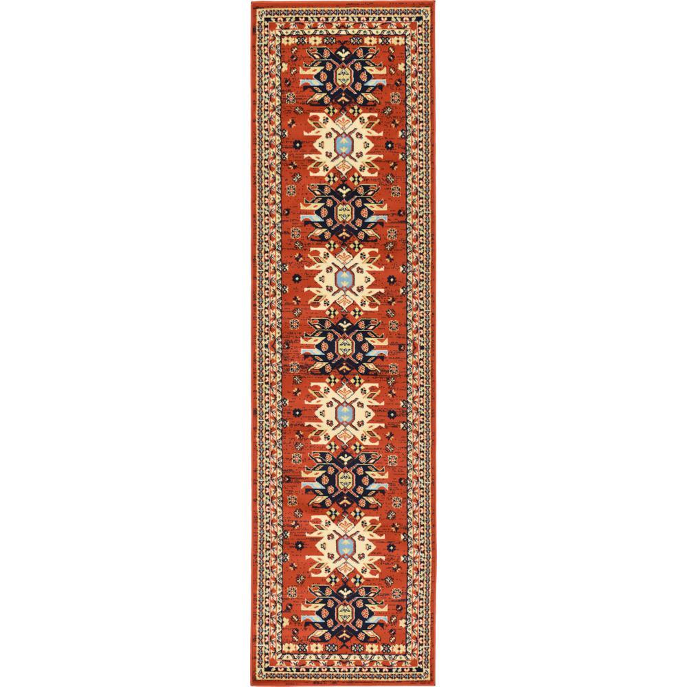 Taftan Oasis Terracotta 2' 7 x 10' 0 Runner Rug