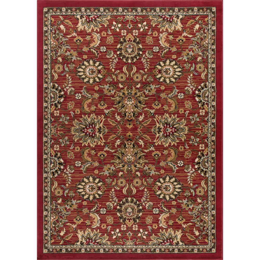 Tayse Rugs Laguna Red 9 Ft X 13 Ft Indoor Area Rug 4590