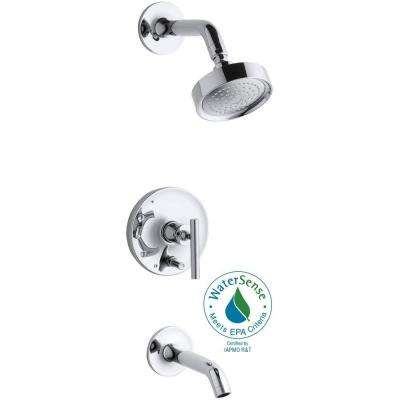 Purist 1-Handle Rite-Temp Pressure-Balancing Tub and Shower Faucet Trim in Polished Chrome (Valve Not Included)