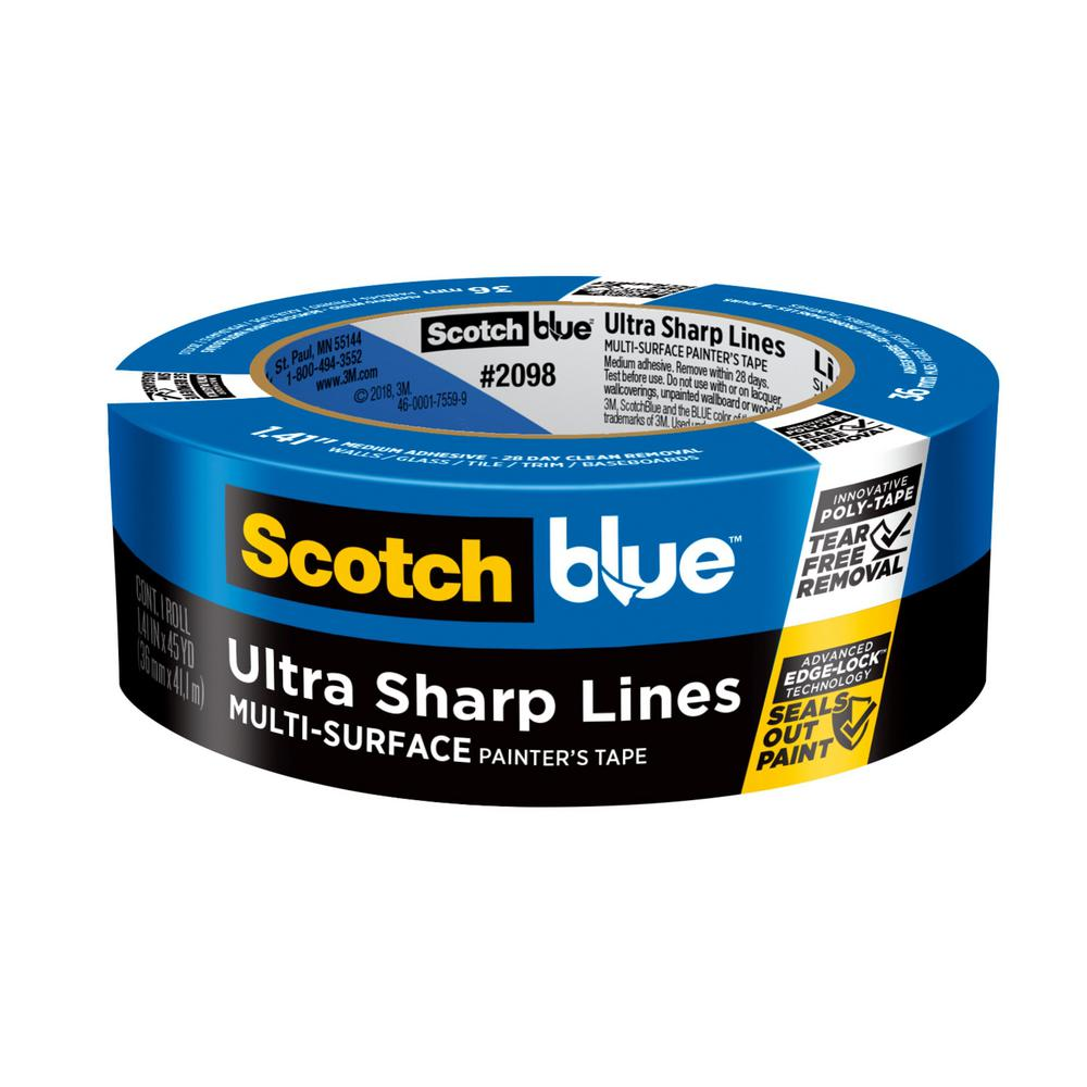 3M ScotchBlue 1.41 in. x 45 yds. Ultra Sharp Lines Multi-Surface Painter's Tape