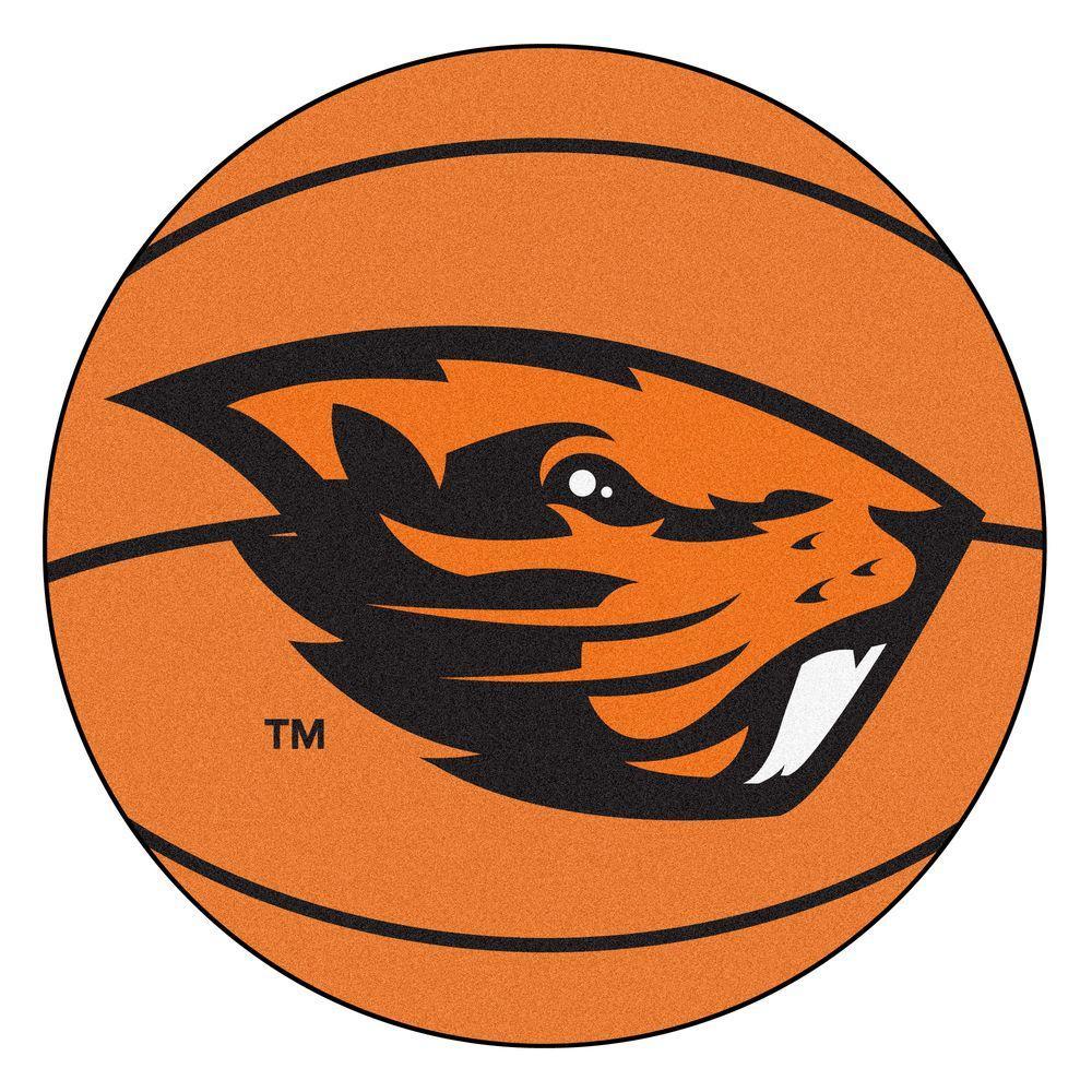 NCAA Oregon State University Orange 2 ft. x 2 ft. Round Area Rug