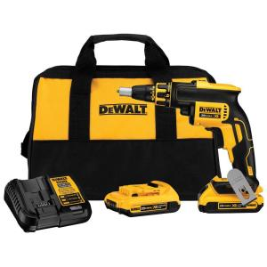 Dewalt 20-Volt MAX XR Lithium-Ion Cordless Brushless Drywall Screw Gun Kit with (2) Batteries 2Ah, Charger and... by DEWALT