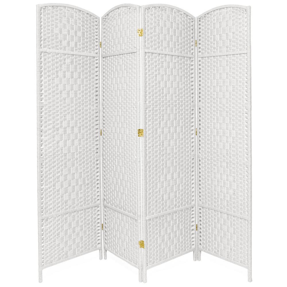 7 ft. White 4-Panel Room Divider