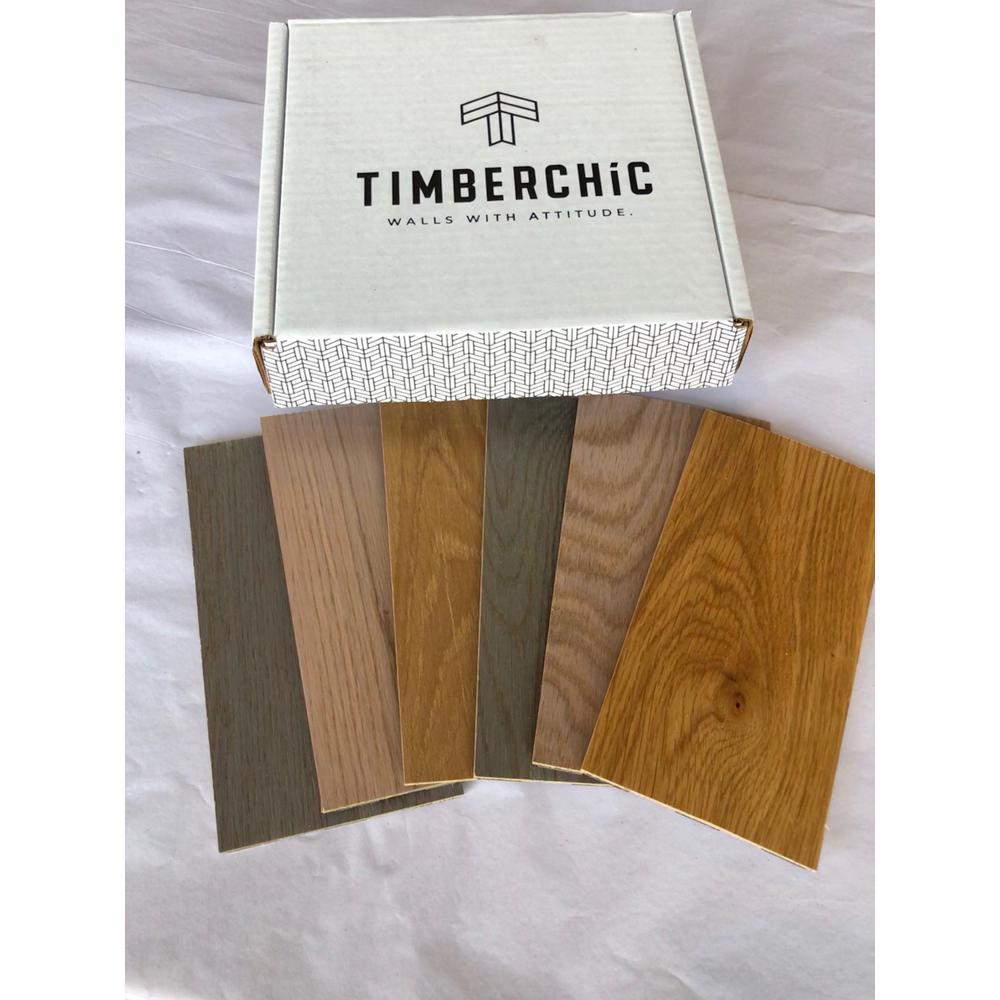 Sample Pack Oak Peel and Stick Wall Applique Panels (Sample)