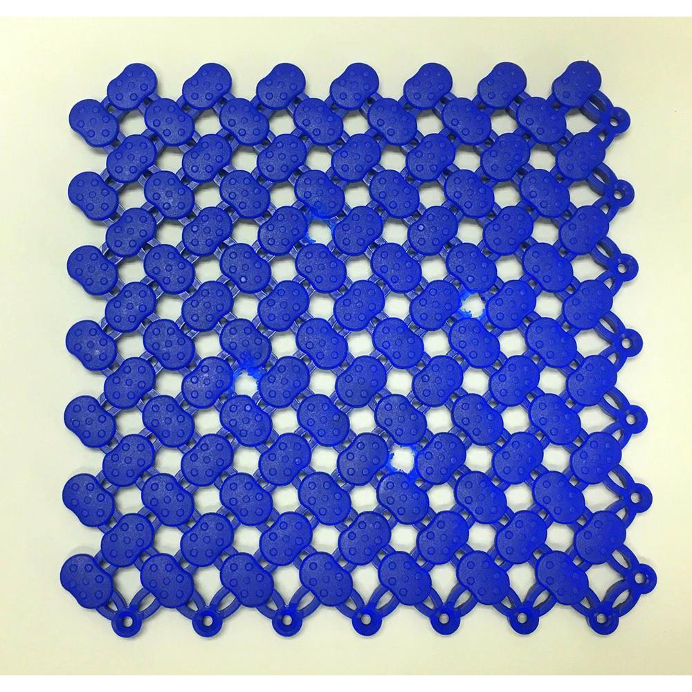Navy Blue 8 in. x 8 in. Soft Vinyl Commercial or Residential Floor Tile (11 sq. ft. / case)