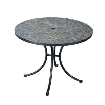 Stone Harbor 40 in. Round Slate Tile Top Patio Dining Table