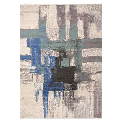 Contemporary Modern Abstract Area Rug 5' x 7' Blue