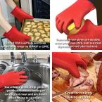 Chef Buddy Silicone Red Oven Mitts