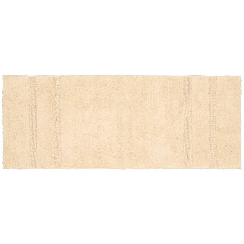 Natural Bathroom Rugs: Garland Rug Majesty Cotton Natural 22 In. X 60 In