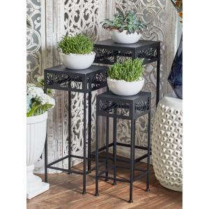 Black Iron Plant Stands (Set of 3)