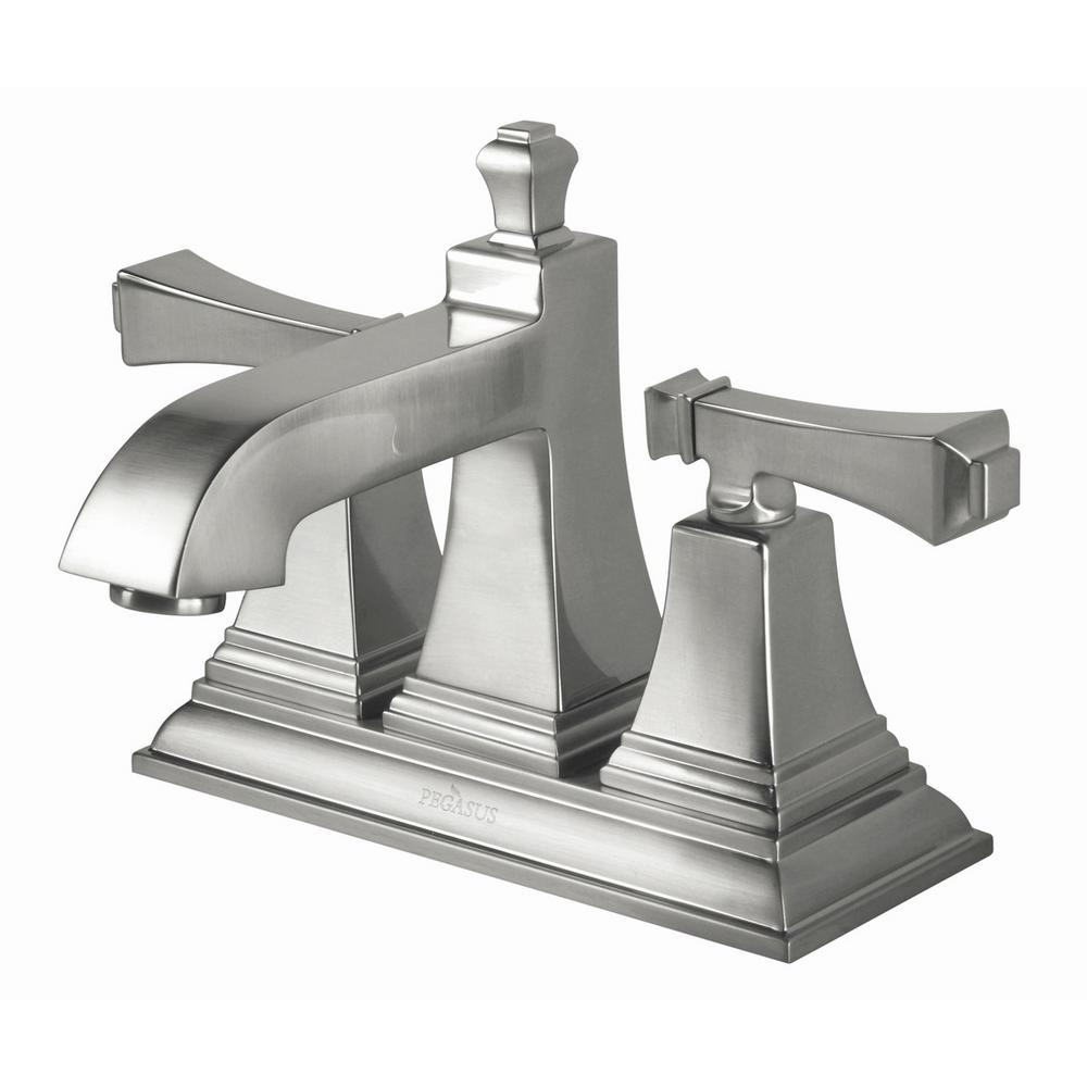 Pegasus Exhibit 4 in. Centerset 2-Handle High-Arc Bathroom Faucet in ...