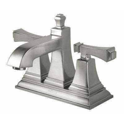 Exhibit 4 in. Centerset 2-Handle High-Arc Bathroom Faucet in Brushed Nickel