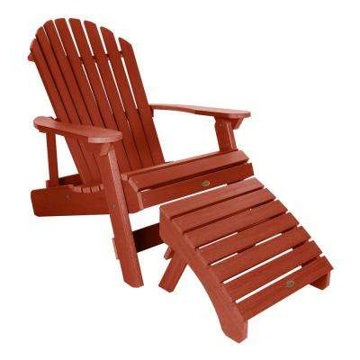 King Hamilton Rustic Red 2-Piece Recycled Plastic Outdoor Seating Set