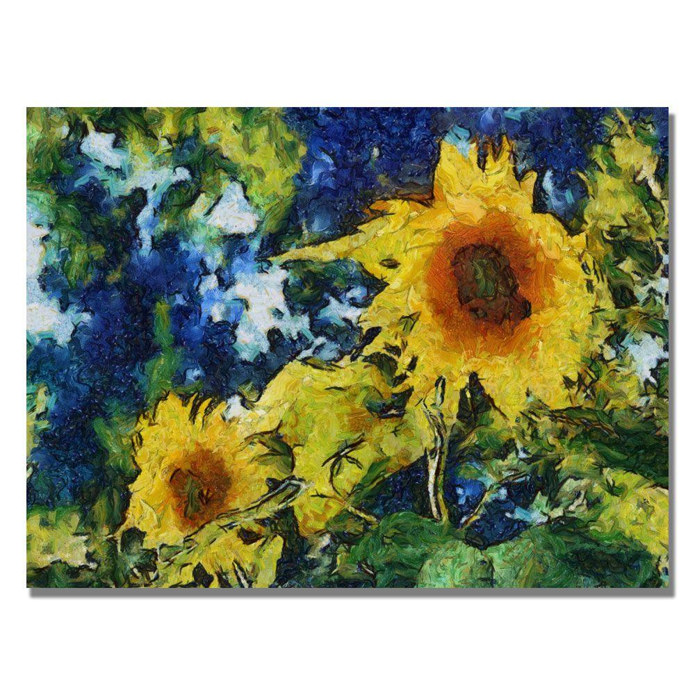 18 in. x 24 in. Sunflowers Canvas Art