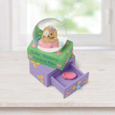 Tabletop Snow Globe Resin Sole Sisters-Perfect Pair Dog and Shoe Figurine