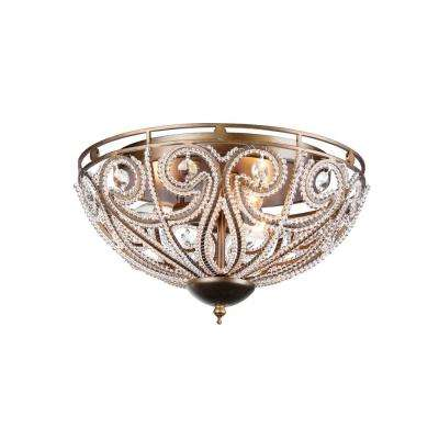 Claire 3-Light Bronze Flushmount  sc 1 st  The Home Depot & Warehouse of Tiffany - Lighting - The Home Depot azcodes.com