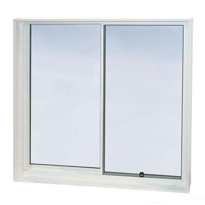 48 in. x 48 in. Egress Left-Handed Sliding Vinyl Window