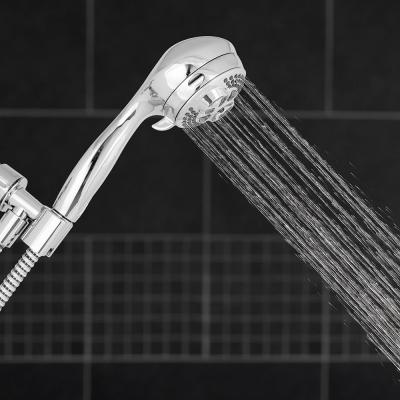 6-Spray 3.5 in. Single Wall Mount Handheld Shower Head in Chrome